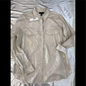 J Crew  metallic shirt